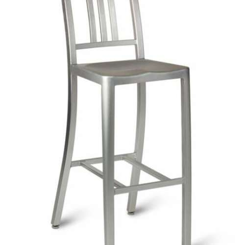 Toulon Steel High Stool With Back
